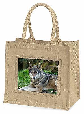 Ein Wunderschöner Wolf Große Natürliche Jute-einkaufstasche Weihnachten,AW-11BLN