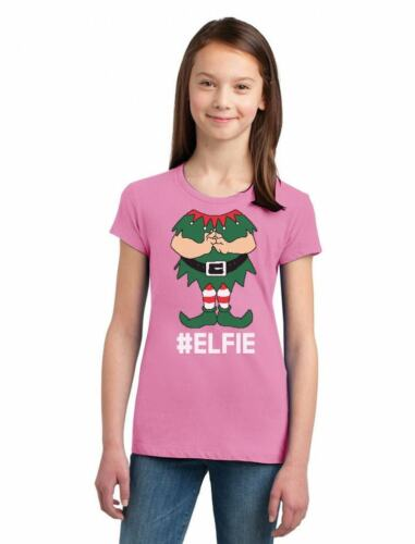 Elf Suit Funny Elfie Christmas Girls/' Fitted Kids T-Shirt Gift