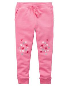 Clothing, Shoes & Accessories Frank Nuevo Carter's Niña Glitter Rosa Corazón Rodillas Pantalones De Chándal To Be Highly Praised And Appreciated By The Consuming Public
