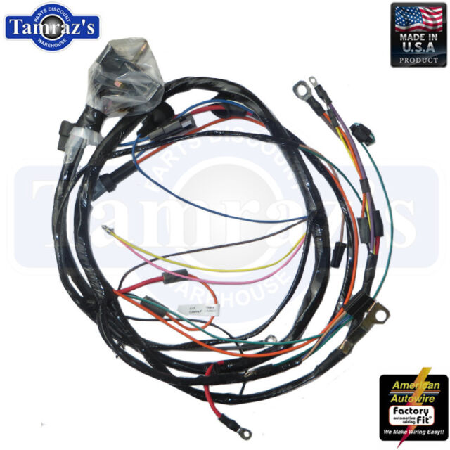 1972 camaro engine wiring harness v8 small block with factory gauges for  sale online | ebay  ebay