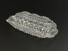 Antique EAPG clear pressed glass celery or relish tray / dish 1880's 1890's