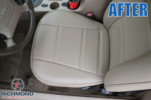 1999 2000 Ford Mustang V6 Coupe Driver Side Bottom Leather Seat Cover GRAY