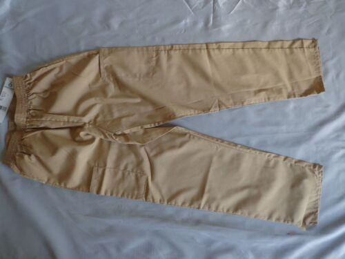 Fundamentals White Swan Elastic Waist Cargo Scrub Pant Khaki Size Small
