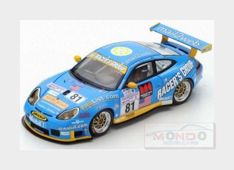 Porsche 911 996 Gt3 Rs The Racer'S Group H Le Mans 2002 SPARK 1 43 S5517 M