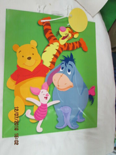 2 GIFT BAGS CHRISTMAS LARGE SIZE 12 1//2 X 15 1//2 X 5 1//2 INCHES WINNIE THE POOH