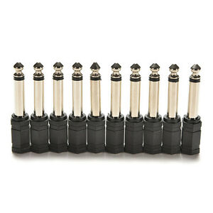 4Pcs-6-35mm-1-4-Male-to-3-5mm-1-8-Female-Stereo-Audio-Mic-Plug-Adapter-Jack-LJ