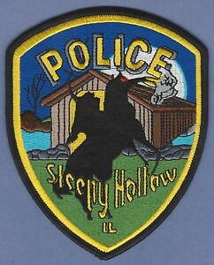 Sleepy Hollow IL Police Dept Patch Illinois Headless Horseman