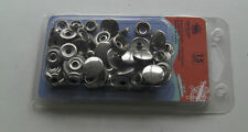 STAINLESS STEEL SNAP FASTENER PACK OF 15, TOOL INCLUDED, FOR CANOPY FIXING