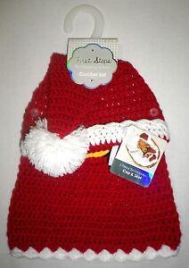 first steps baby girls crocheted pom santa hat skirt set photo