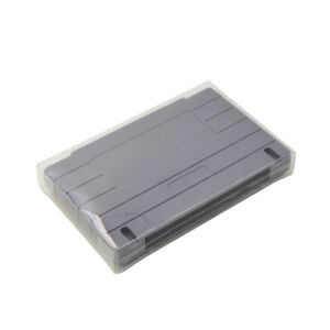 5x-Boxes-Case-for-Nintendo-SNES-Super-NES-Game-Cartridge-Protector-Clear-Cover
