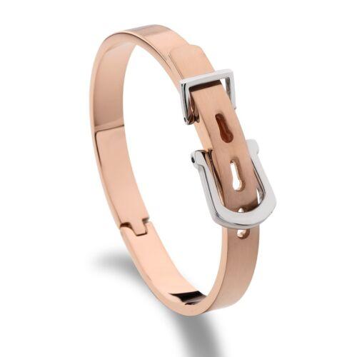 Fashion Unique Or Rose Acier Inoxydable Ouvert Manchette Bangle Bracelet Pour Femmes