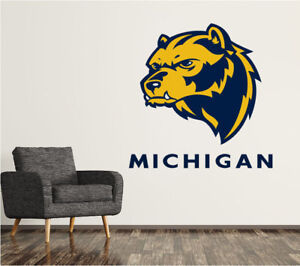 Michigan Wolverines #4 NCAA College Vinyl Sticker Decal Car Window Wall