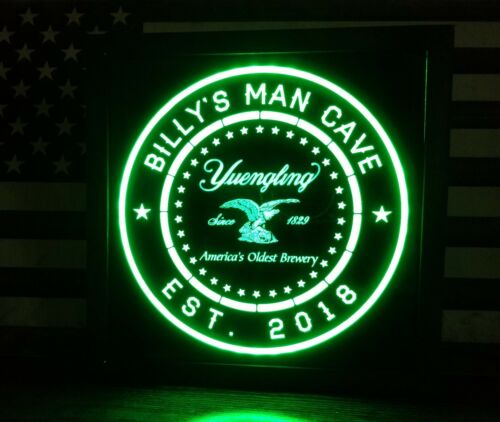 custom personalized Yuengling led 12 x 12 Multi color LED Sign led with remote