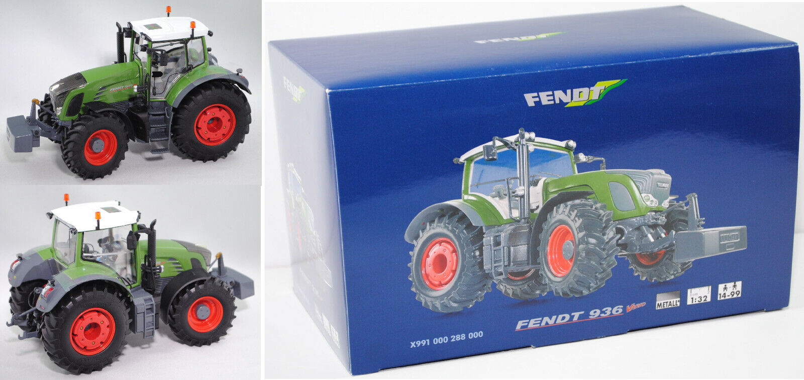 Wiking 077303 Fendt 936 Vario Tracteur 1 32 werbebox Limited First Edition