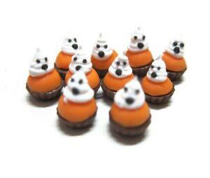 10 Miniatures Halloween Cupcakes Dollhouse Miniatures Food Bakery