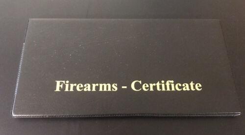 Double Noir//Or-Imprimé des armes à feu//certificat Titulaire de la licence//Portefeuille-SGC//AEC