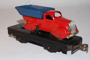 588ms Marx Calibre O Plat Voiture Avec Forme Profilée Dump Truck, Agréable