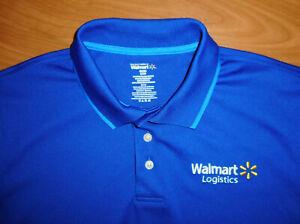 Walmart Logistics Men's Blue Short Sleeve Employee Polo Shirt Size ...