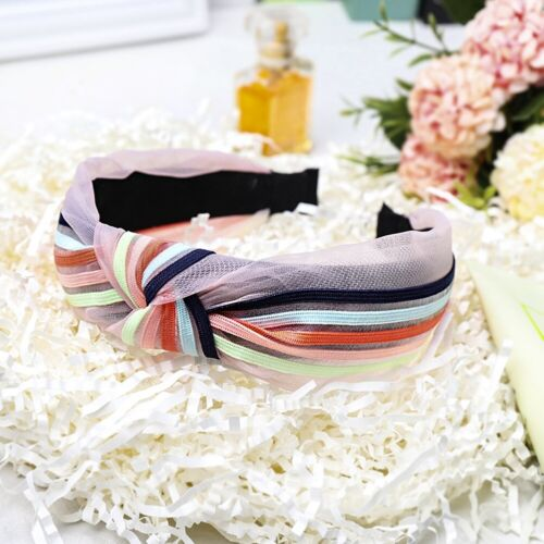 Women/'s Tie Hairband Headband Stripe Knot Colorful Hair Hoop Bands Accessories