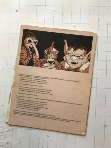 Film- & TV-Spielzeug 1979 TSR Ad&d D1 Descent in Depths Of The Earth Modul 9019 3rd D & D Gygax Gary