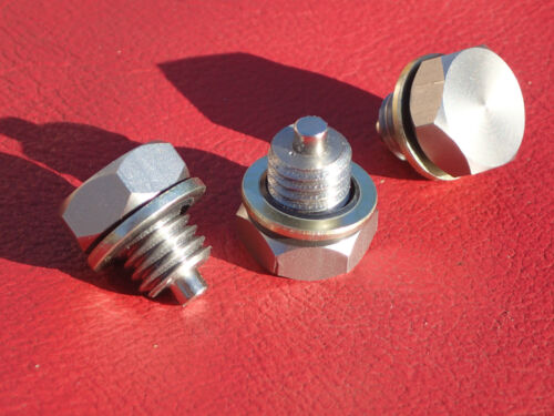 BSA  B25  Tr25w 441 B25SS T B50 Stainless magnetic gearbox plug and Dowty washer