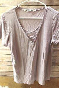 Michael-Stars-OS-Small-Light-Purple-Tee-Women-039-s-Shirt