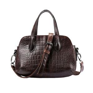 Ladies-Genuine-Leather-Mini-Crocodile-Grain-Handbag-Messenger-Shoulder-Tote-Bag
