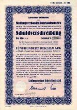 Siedlungsverband Ruhrkohlenbezirk Essen Gold Anleihe 1927 Regionalverband Ruhr
