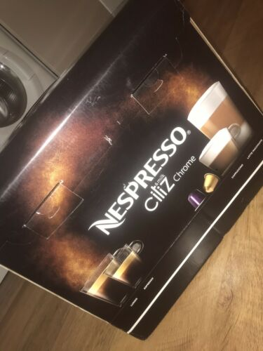 BRAND NEW NESPRESSO CHROME COFFEE MACHINE