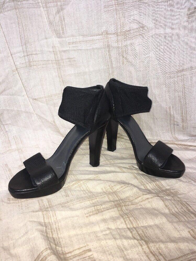 shopping online e negozio di moda Stuart Weitzman nero Leather Heels, Heels, Heels, donna's scarpe, Dimensione 6.5M  spedizione gratuita in tutto il mondo