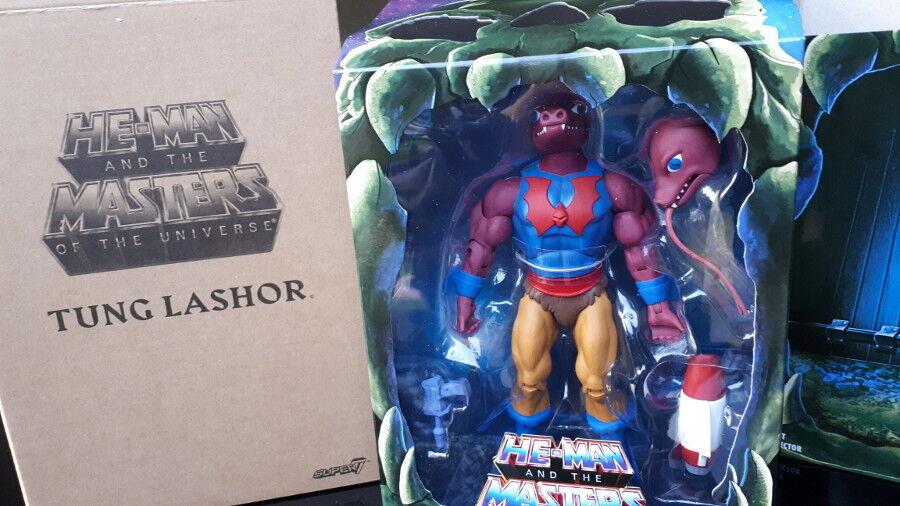 TUNG LASHOR + CD FILMATION cartoon action figure hordak NEW BOX motu vintage 80