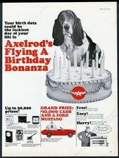 1965 FLYING A GAS STATION AXELROD BASSET HOUND Vintage Look REPLICA METAL SIGN