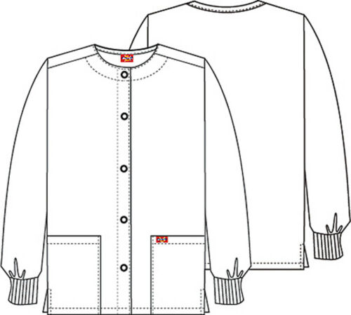 Dickies EDS Scrubs Snap Front Warm Up Jacket DK301 PUSK