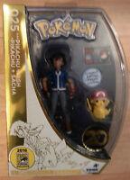 Sdcc 2016 Pokémon Exclusive Pikachu & Ash Limited Edition 025 Figure Tomy 20th