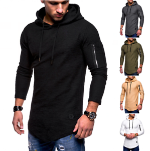 New-Men-039-s-Slim-Fit-Hoodie-Long-Sleeve-Muscle-Tee-T-shirt-Casual-Tops-Blouse