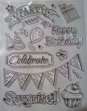 Birthday Cake Party Clear Ink Stamps Card Making Scrapbooking Journal Home Decor