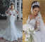 Gorgeous Lace Beaded Mermaid Wedding Dresses Long Sleeve Bridal Gowns Custom New