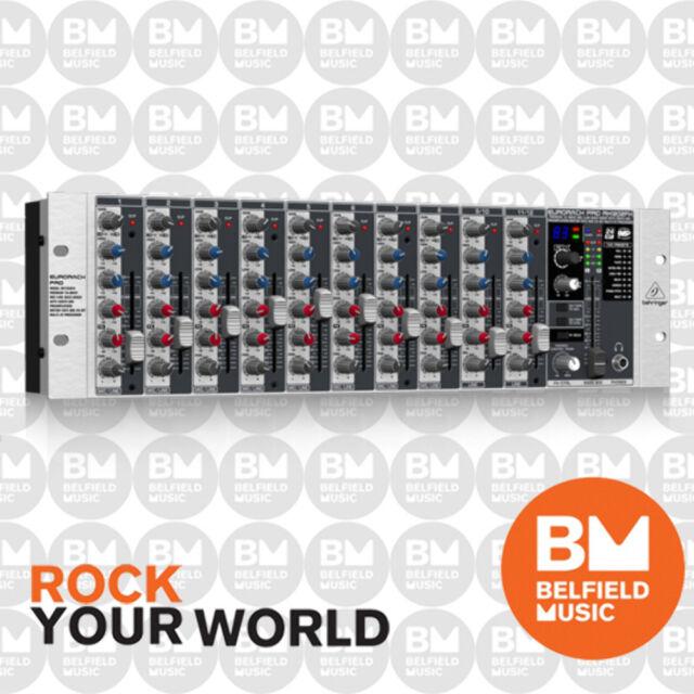 Behringer EURORACK PRO RX1202FX Rackmount Mixer Rack Premium 12 Input w/ MultiFX
