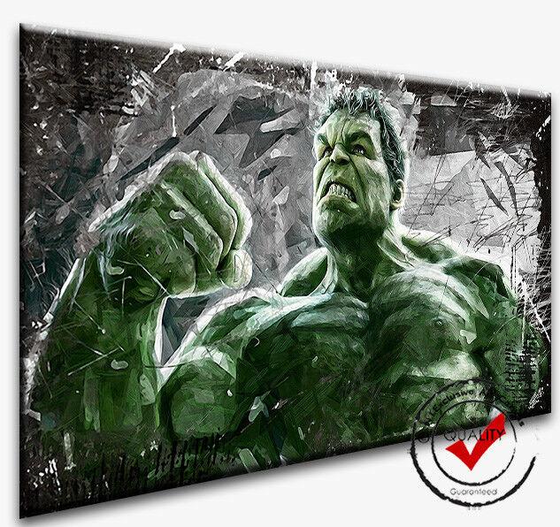 Hulk Leinwand Bild Bilder Wandbilder Kunstdrucke Film kein Poster 4