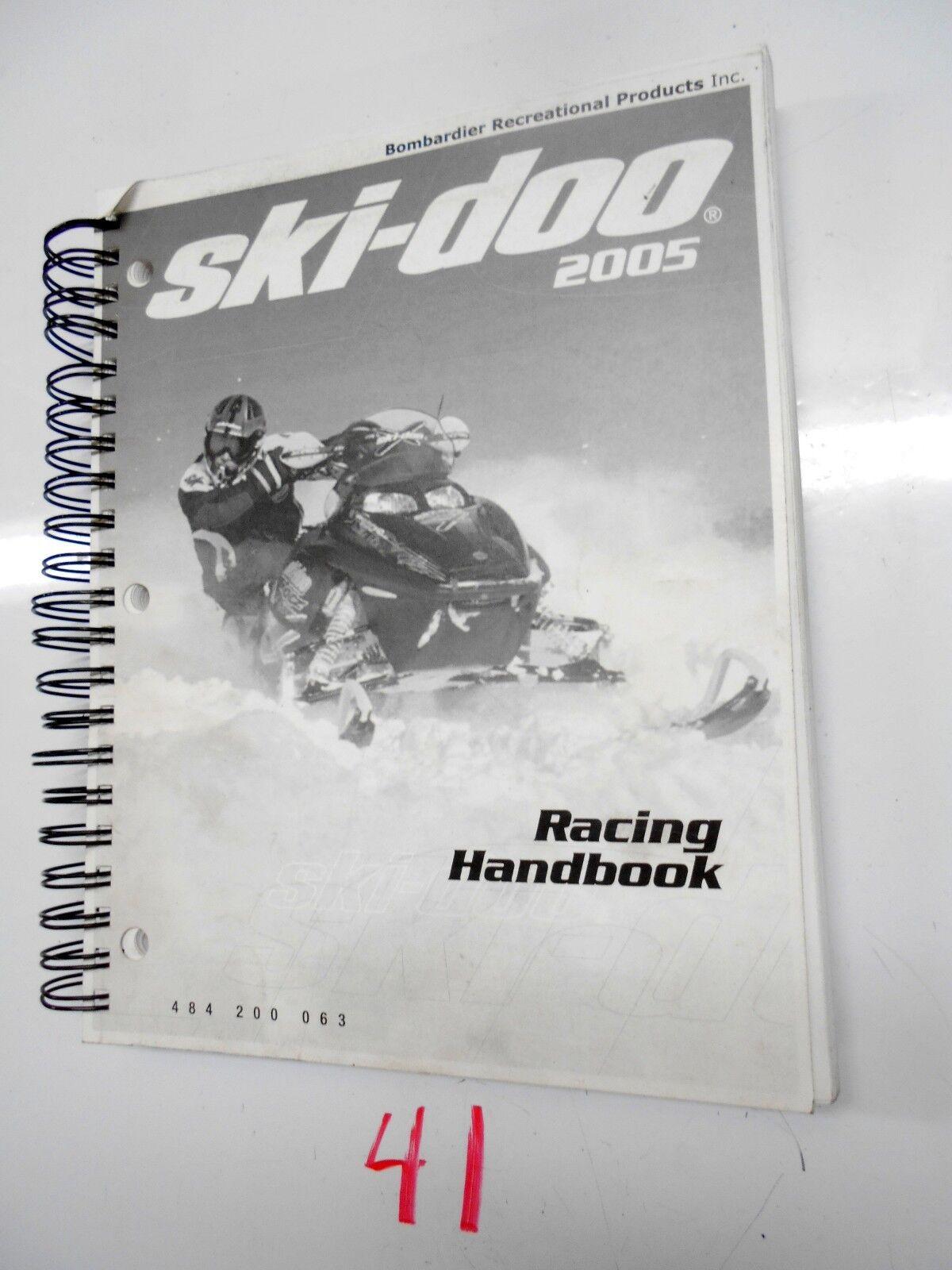 2005  SKI-DOO SNOWMOBILE  RACING HANDBOOK SERVICE  MANUAL P N 484 200 063  (854))  save up to 70%