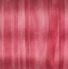 100% Pure Silk Ribbon 4mm Embroidery Pink Hand Dyed Pink Peony - 3 meters
