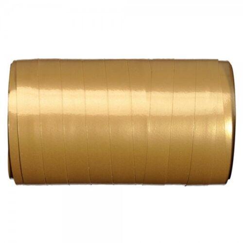 """Dekoband /""""Kräuselband Spule/"""" 10 mmx50 m gold Geschenkband Schleifenband Bänder"""