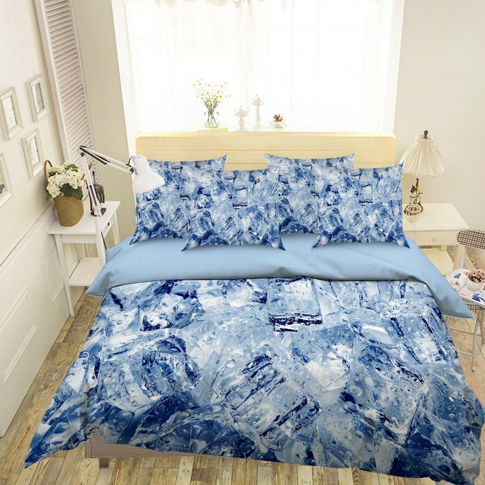 3D Ice Cube Pattern 26 Bed Pillowcases Quilt Duvet Single Queen King US Summer