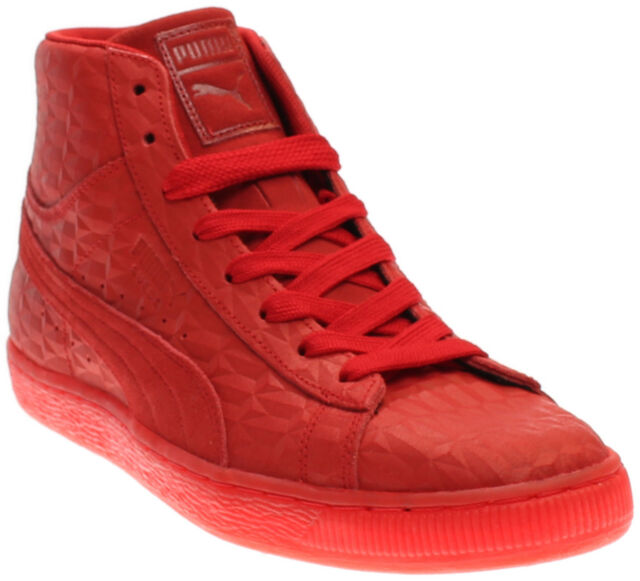 62b78dd6400d65 Puma Mens Suede Mid Me Iced Shoes Leather SNEAKERS Red 361861 01 US ...