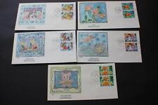 SET GREETINGS 1989 STAMPS GREAT BRITAIN GB UK FLEETWOOD FIRST DAY COVERS FDC