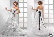 MAGGIE SOTERRO 10 NEW LT IVORY ORGANZA WEDDING DRESS A-LINE BALLGOWN  >NO BELT<