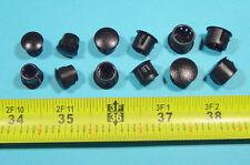 "ASSORTED Black Nylon HOLE PLUGS 3/8"", 7/16"", 1/2"" Locking Rigid plug push-in 12p"
