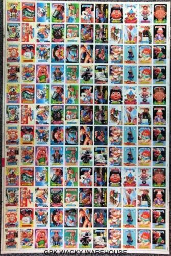 1988 TOPPS GARBAGE PAIL KIDS 14TH SERIES UNCUT SHEET 132 CARD SHEET RARE GPK