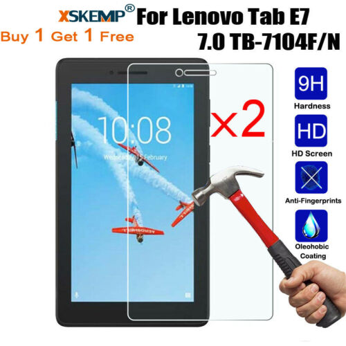 2Pcs New Tempered Glass Screen Protector For Lenovo TAB P10 10.1 TB-X705F Tablet