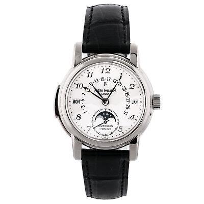 Patek Philippe Grand Complications Calendar Manual Gold Mens Strap Watch 5016G